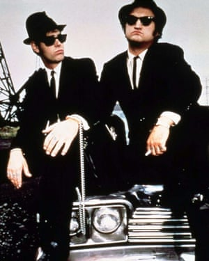 'A hard-to-pin-down hybrid of fact and fiction' … Belushi, right, with Dan Aykroyd in The Blues Brothers.