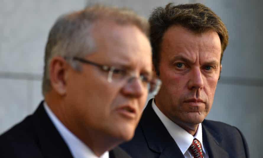 Australian prime minister Scott Morrison and trade minister Dan Tehan