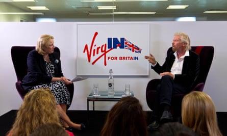 Jayne-Anne Gadhia talks to Sir Richard Branson about his views before the EU referendum.