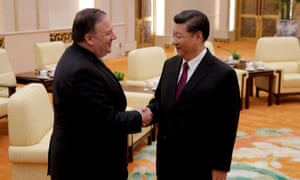 US secretary of state Pompeo and China's president Xi Jinping meet in Beijing.