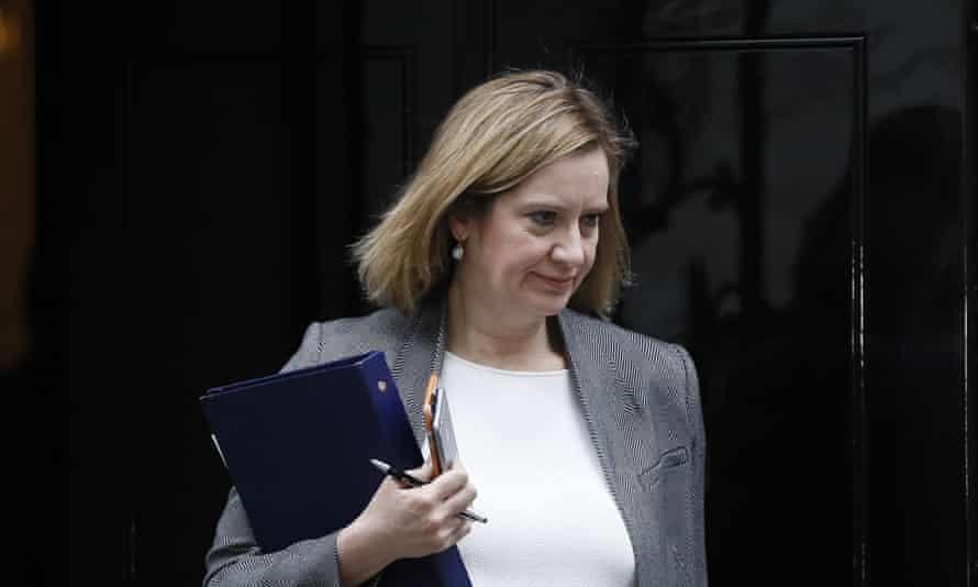 Amber Rudd leaving 10 Downing St