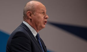 Damian Green speaking to the Conservative conference.