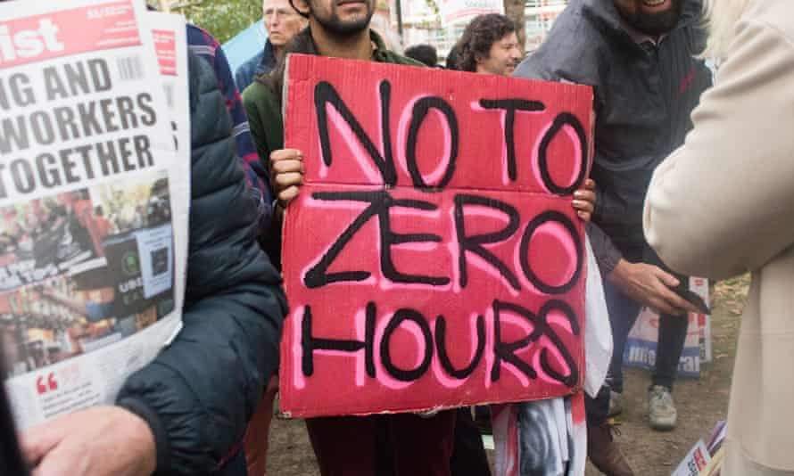 Gig economy workers protest