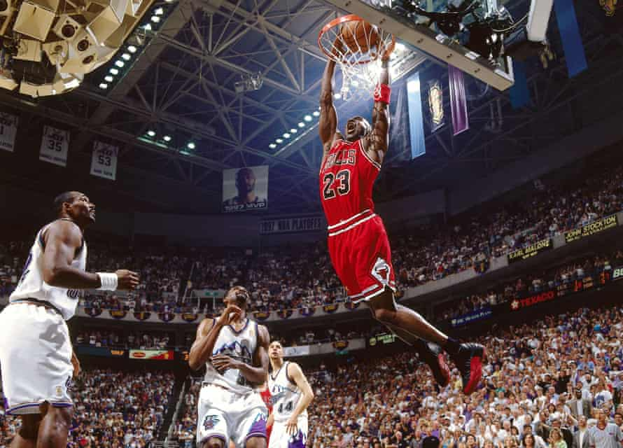Michael Jordan, in action here for Chicago Bulls in 1997, was namechecked by Chelsea in their attempt to sign Neymar from Santos.