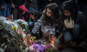 Egyptians attend a memorial for 28-year-old graduate Giulio Regeni outside of the Italian embassy in Cairo, Egypt.