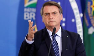 Jair Bolsonaro said: 'It's to show the world that this is Brazil. That the Amazon is ours.'