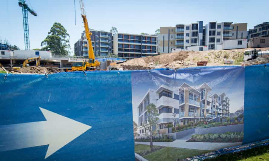 Property Inspections As Chinese Homebuyers Thronging Sydney Create Mini-Bubble Frenzy An artist's impression of a residential development is displayed outside a construction site in the suburb of Eastwood in Sydney, Australia, on Saturday, Jan. 11, 2014.