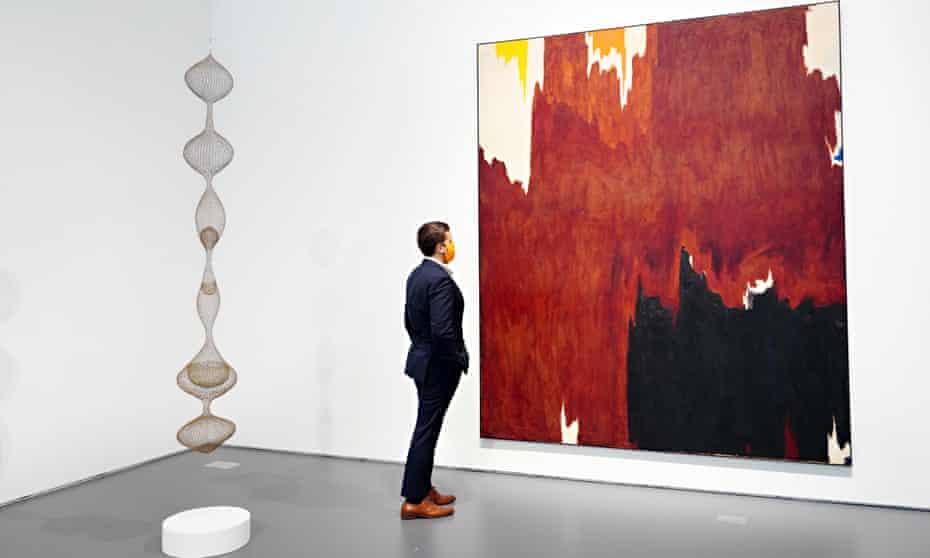 1957-G by Clyfford Still at Sotheby's in New York.