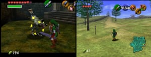 Screenshots from The Legend of Zelda: Ocarina of Time.