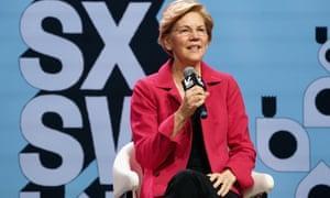 Elizabeth Warren speaks onstage at SXSW in Austin, Texas.