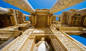 The Library of Celsus in the ancient city of Ephesus, Turkey