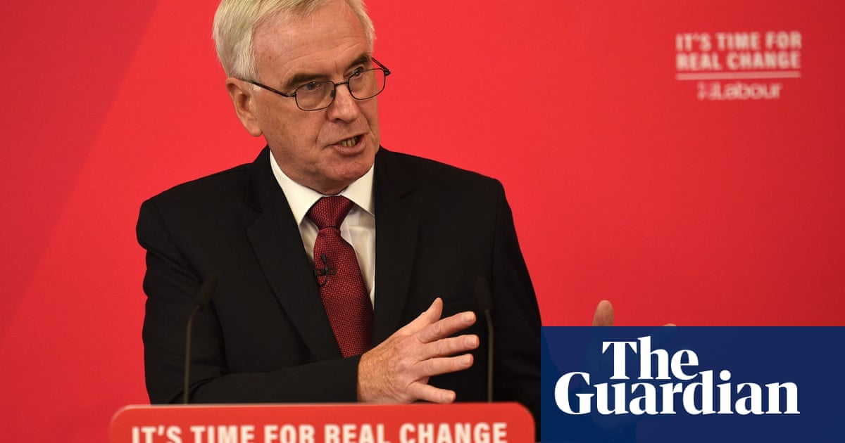 John McDonnell to attack £100bn tax giveaway to UK's billionaires
