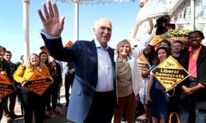 Vince Cable and his wife Rachel Smith arrive in Brighton for the Liberal Democrats conference.