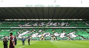 Celtic fans come together to display their tribute to the 'Lisbon Lions'.