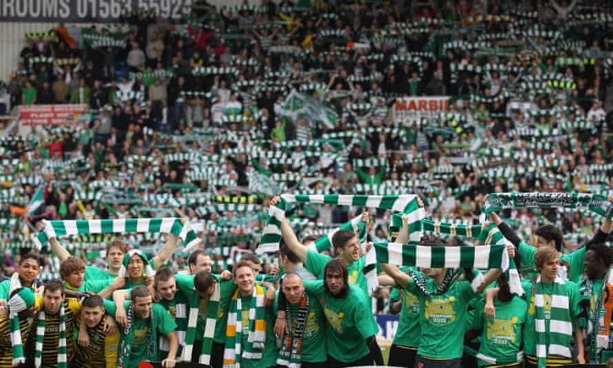 Celtic celebrate winning the title in 2012.