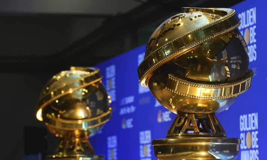 'A thundering disgrace' … replicas of Golden Globe statues.