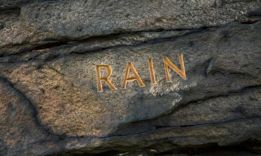 The Rain Stone near Blackstone Edge, one of a series of six Stanza Stones on a trail featuring poems by Simon Armitage.