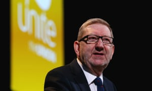Len McCluskey, the leader of Unite