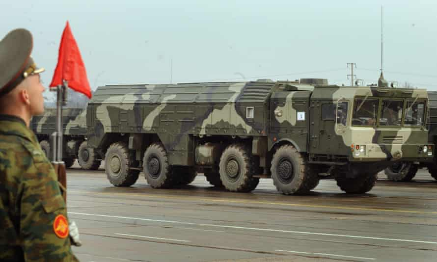 A Russian Iskander ballistic missile launcher in 2010
