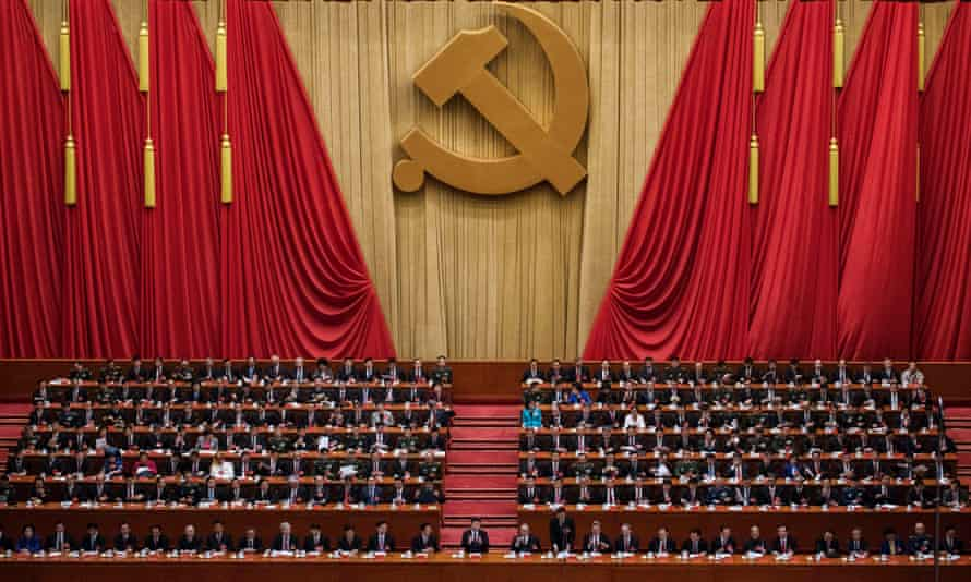 Xi Jinping is applauded after his speech at the opening session of the 19th Communist party congress in Beijing last year