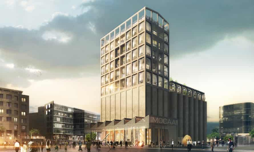 Artist's impression of the Zeitz Museum of Contemporary Art Africa, Cape Town.