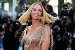 Uma Thurman attends the Closing Ceremony of the 70th annual Cannes Film Festival at Palais des Festivals on May 28, 2017 in Cannes, France