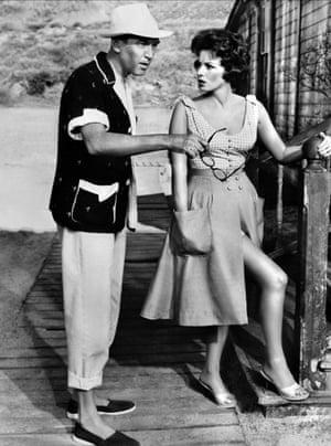 James Stewart and O'Hara in Mr Hobbs Takes A Vacation, 1962
