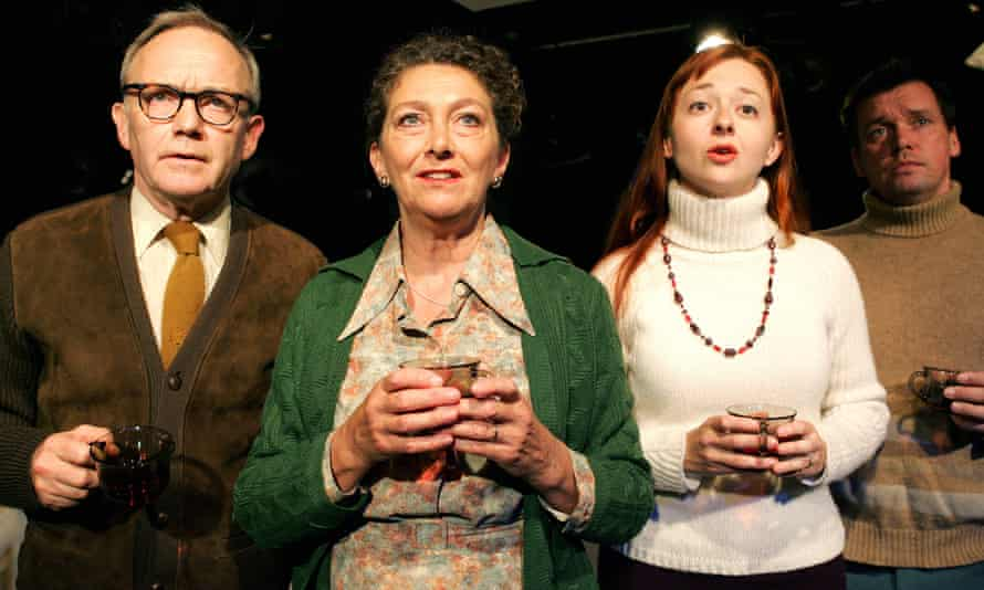 Bruce Alexander, Rosemary McHale, Melisande Cook and Mark Carroll in Carver at the Arcola, directed by William Gaskill in 2005.