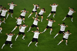 Dancers perform prior to the Europa League final.