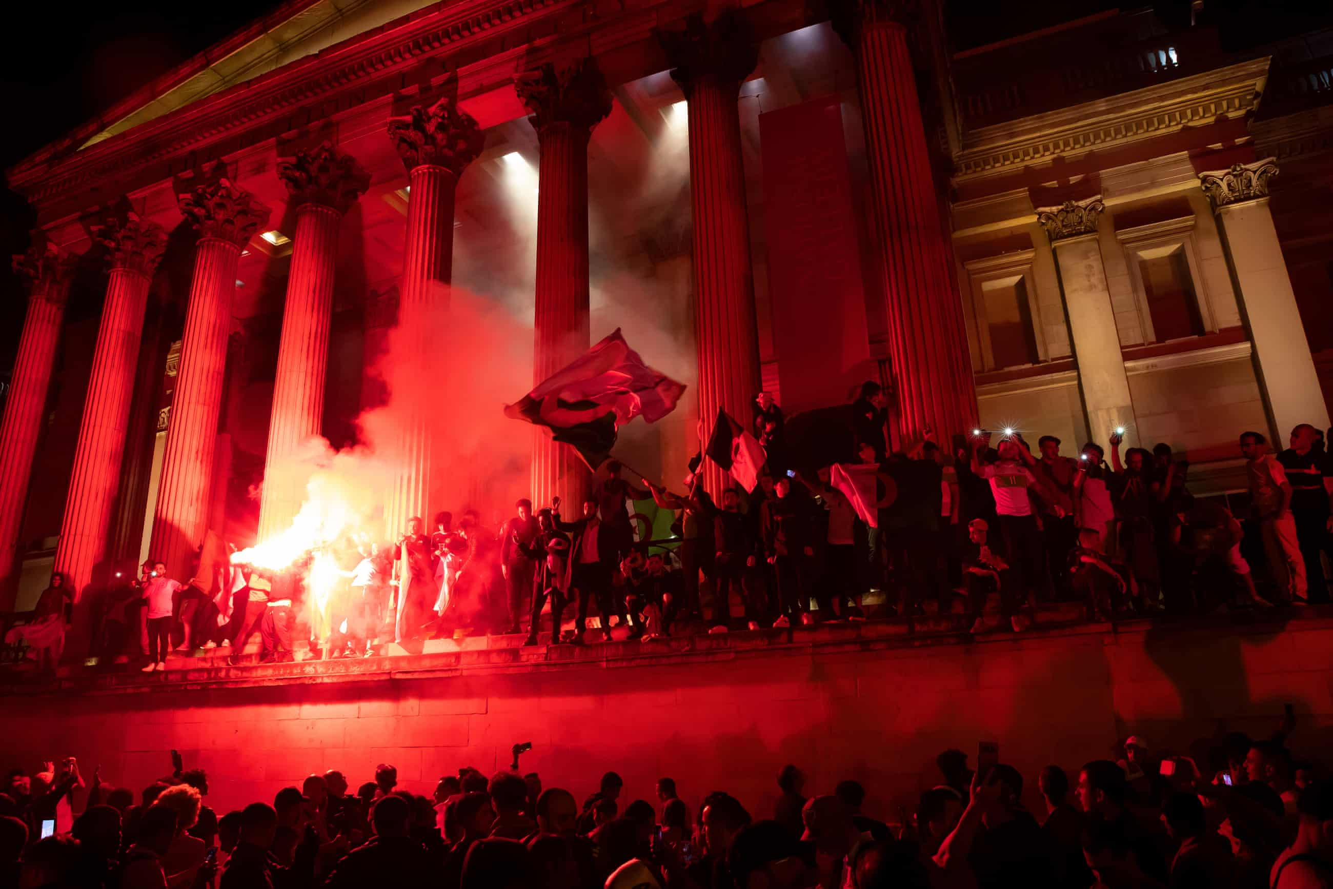 Algeria fans light up London after Afcon triumph – in pictures
