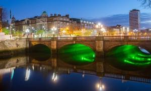 Dublin's O'Connell Bridge across the River Liffey.