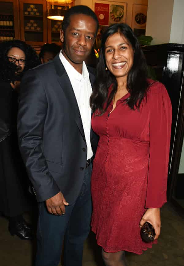 Lester with his wife, playwright Lolita Chakrabarti.