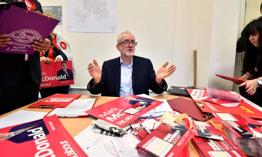 Jeremy Corbyn campaigns For Labour in Stoke-on-Trent.