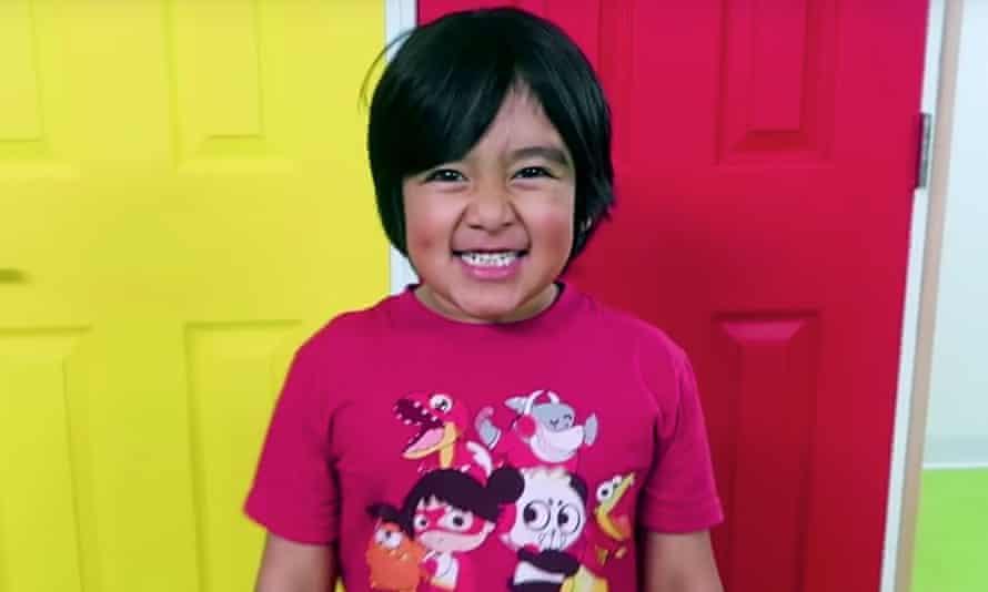 Nine-year-old Ryan Kaji of YouTube's Ryan's World