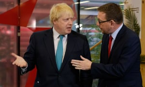 Boris Johnson (left) and Labour candidate Andrew Gwynne.