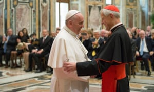 Pope Francis with Donald Wuerl, archbishop of Washington, in 2015