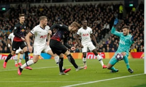 Hugo Lloris (right) was alert early on to deny Timo Werner in the opening minutes.