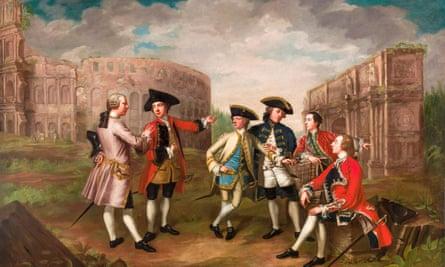 British Gentlemen in Rome by Katharine Read, circa 1750.