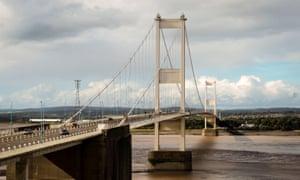 The Severn Bridge.