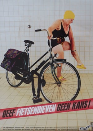 Anti-bike theft poster