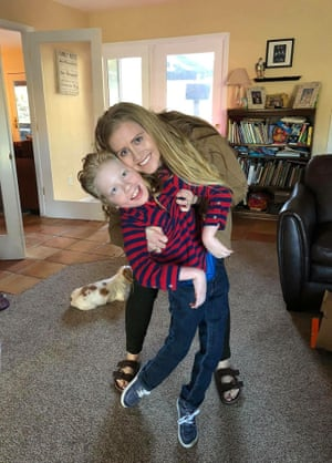 Courtney Lund O'Neil with her brother, Gavin.