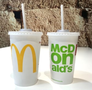 McDonald's will replace plastic straws with new paper straws (pictured) in all its UK and Ireland restaurants from September.
