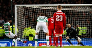 Dembele scores the third from the penalty spot.