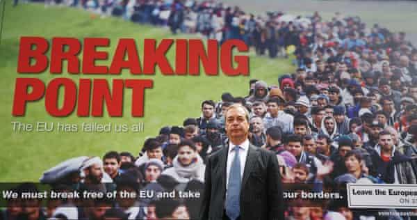 Nigel Farage launches a Ukip EU referendum poster campaign.