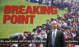 Nigel Farage and immigration billboard