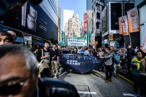 Hong KongProtesters take part in the annual new year's day pro-democracy rally.