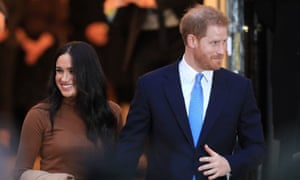 The Duke and Duchess of Sussex on 7 January.