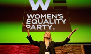 Sophie Walker makes her keynote speech during the Women's Equality party's first annual conference in Manchester on 26 November 2016.