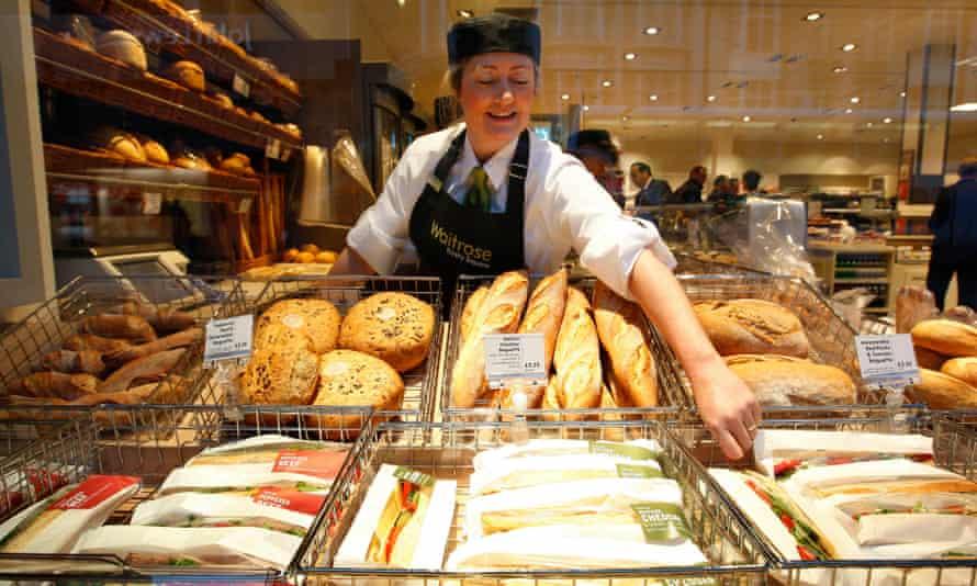 A member of staff at Waitrose