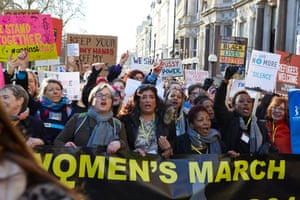 People March from the American embassy to Trafalgar Square in London